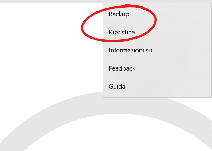 Desktop Remoto Microsoft per Windows 10 opzioni di backup e ripristino