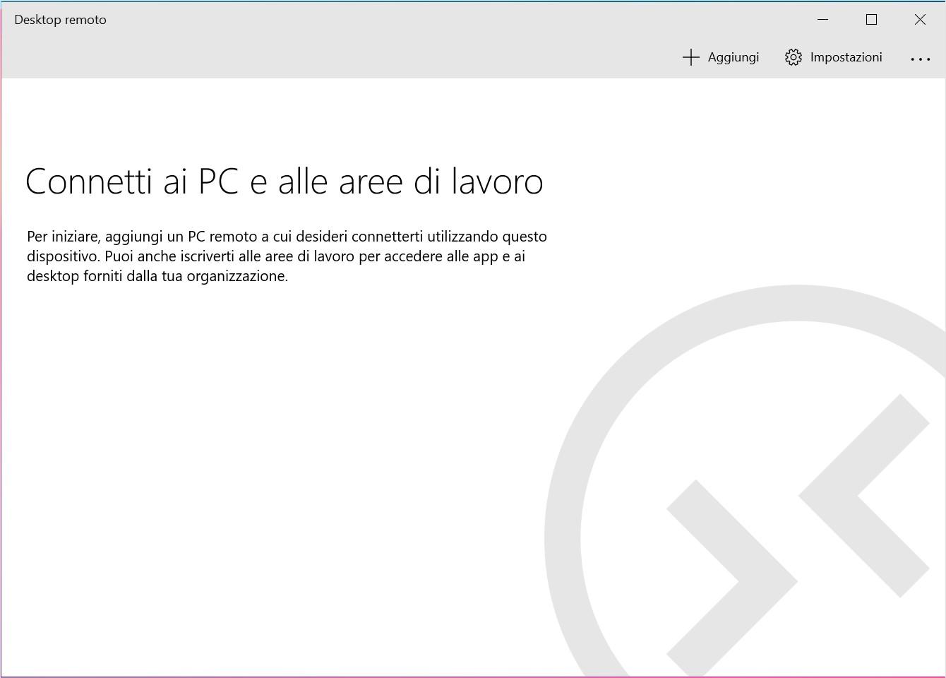 Desktop Remoto Microsoft per Windows 10 tema chiaro