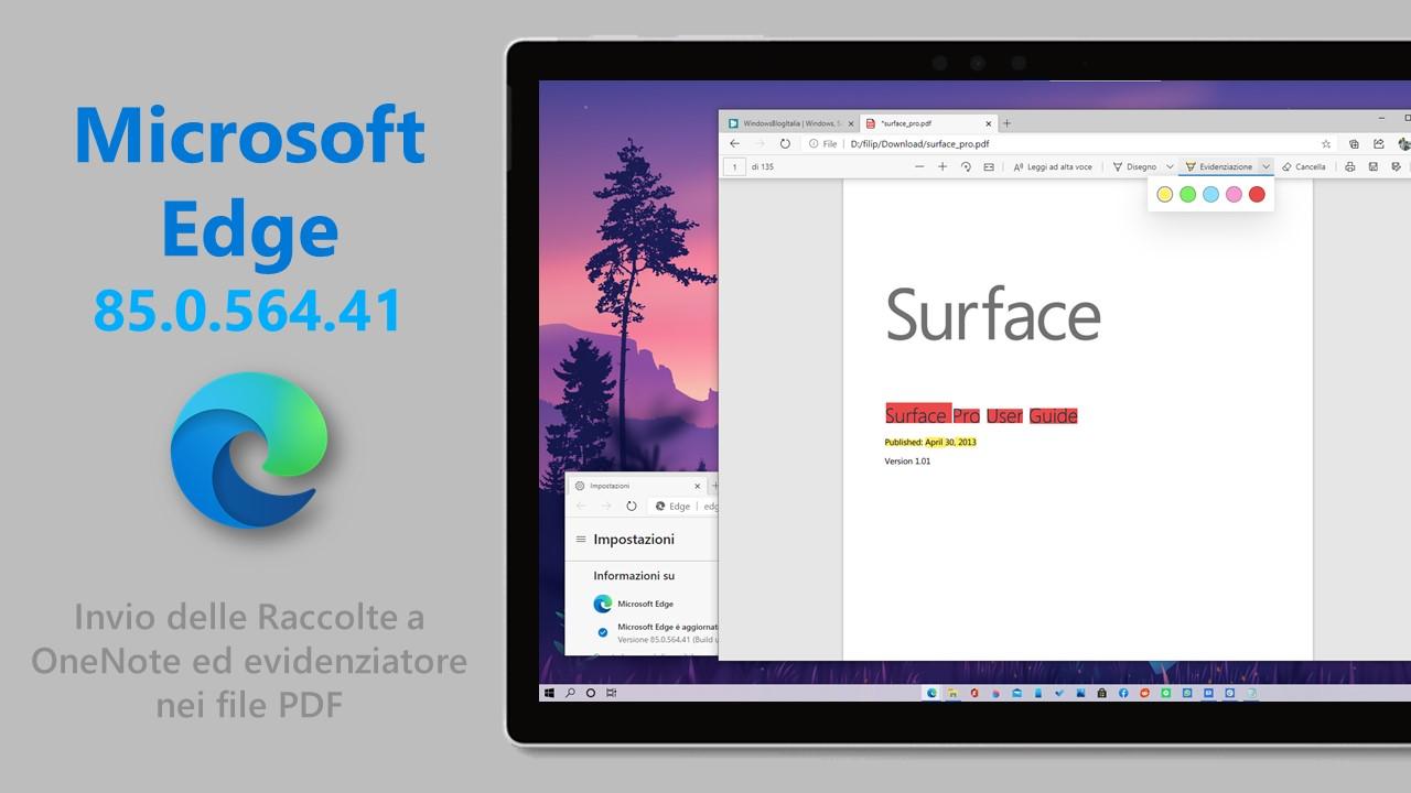 Microsoft Edge stabile 85.0.564.41