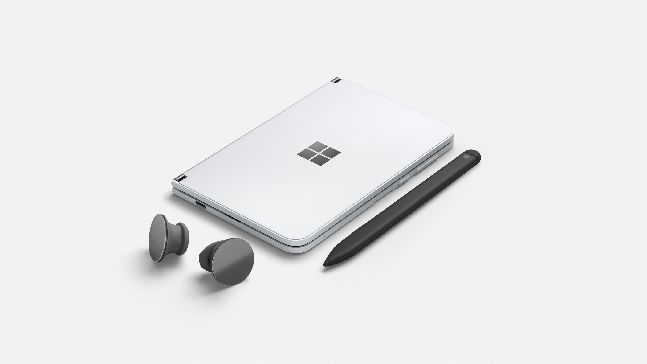 Microsoft Surface Duo con Surface Pen e Surface Earbuds