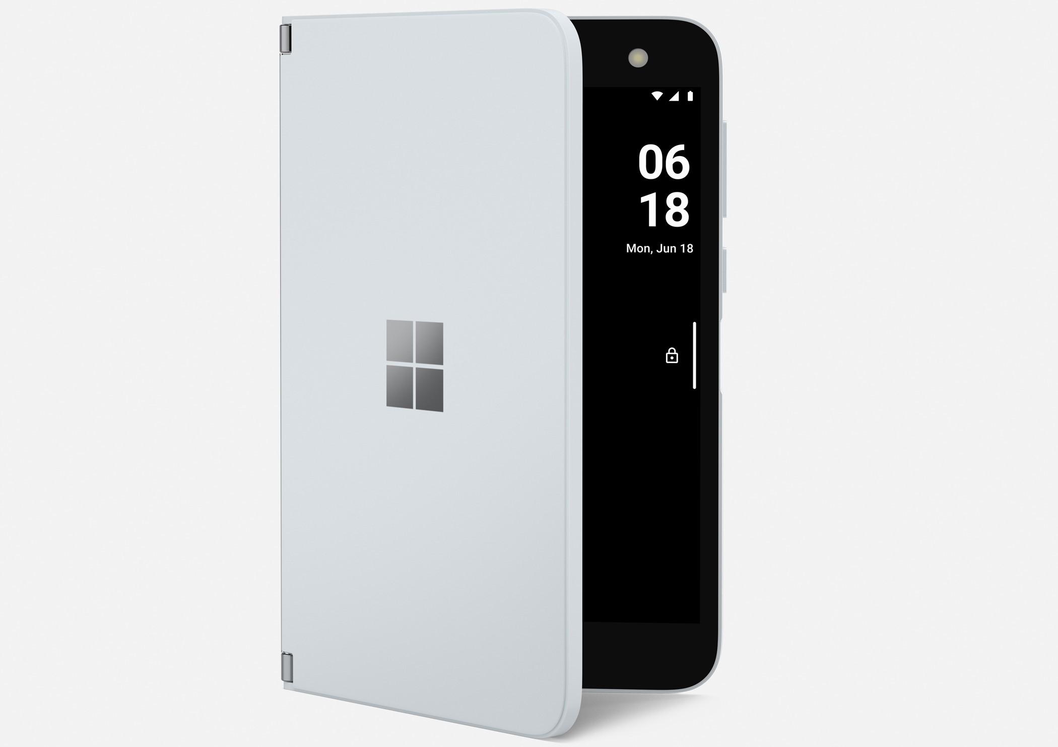 Microsoft Surface Duo con funzione peek per le notifiche