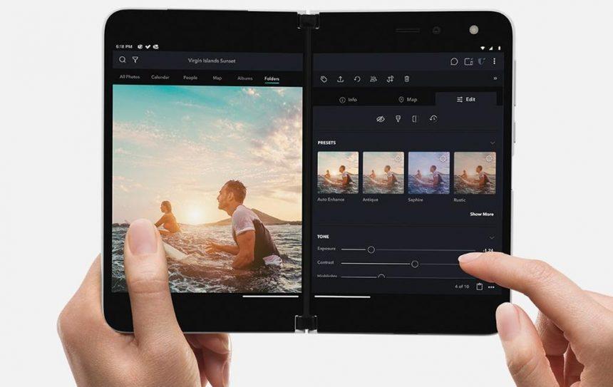 Microsoft Surface Duo modifica foto