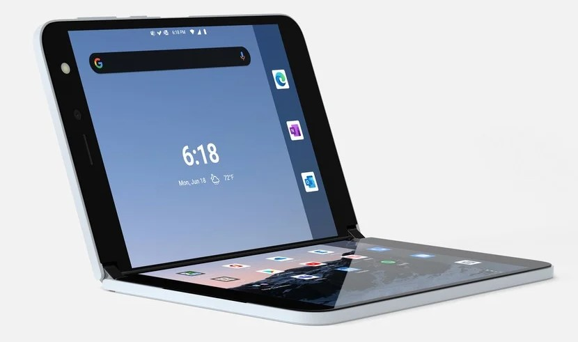 Microsoft Surface Duo piegato immagine ufficiale