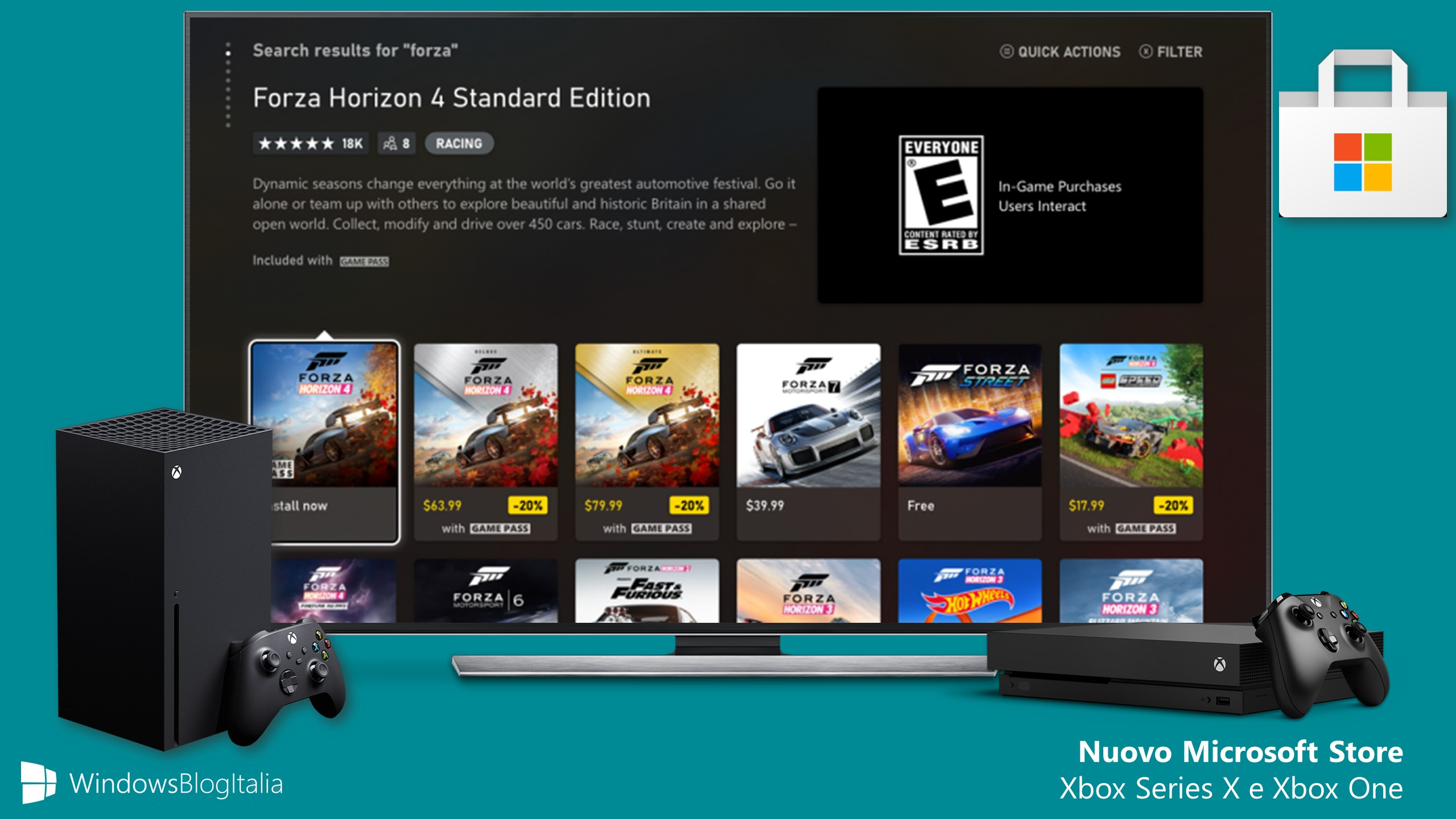 Nuovo Microsoft Store per Xbox Series X e Xbox One