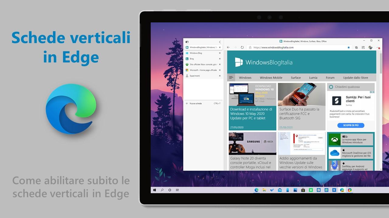 Schede verticali in Microsoft Edge