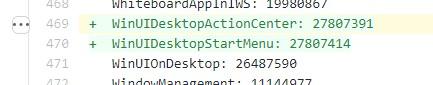 WinUI per menu Start e Action Center di Windows 10