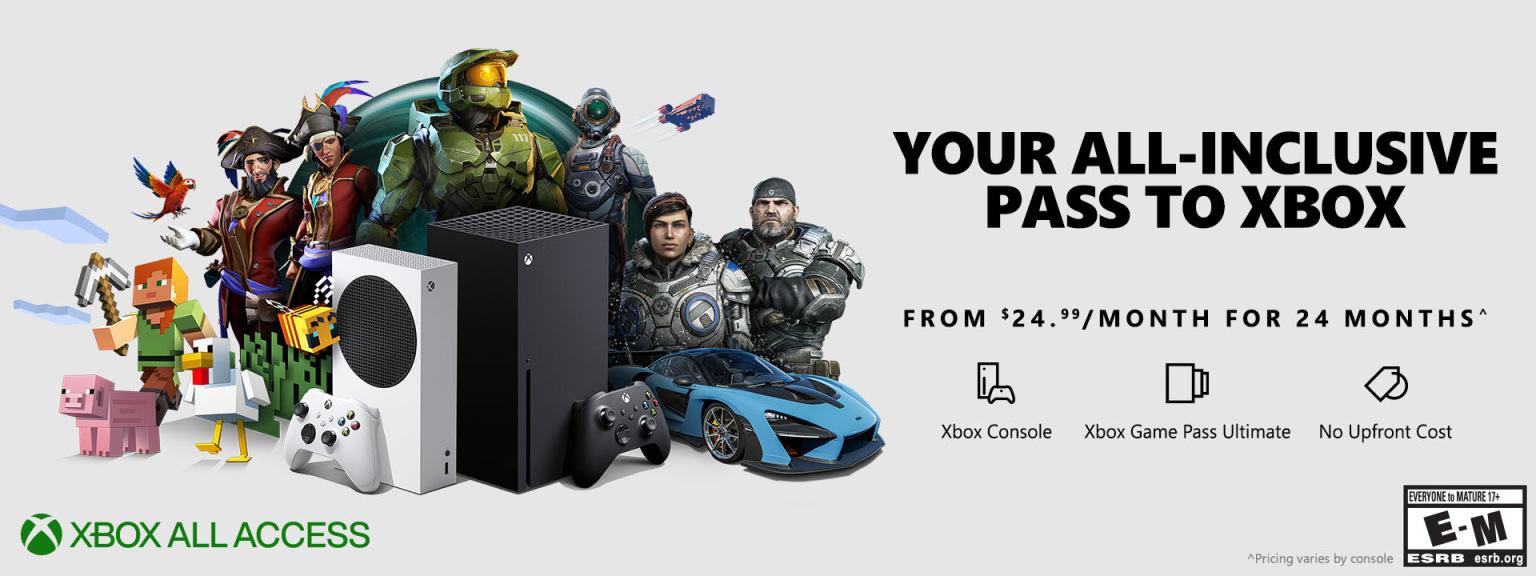 No, niente abbonamento tutto compreso Xbox All Access in Italia