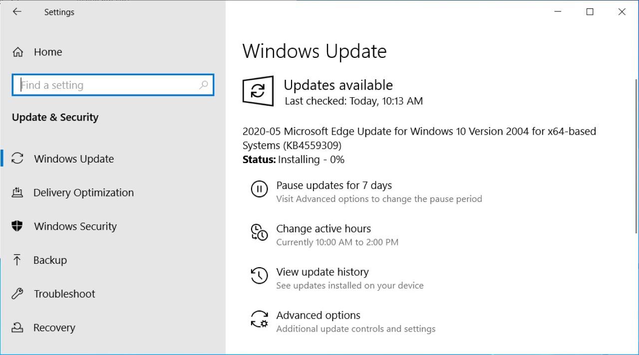 windows update Custom