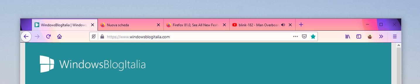 Nuovo tema Alpenglow per Mozilla Firefox 81