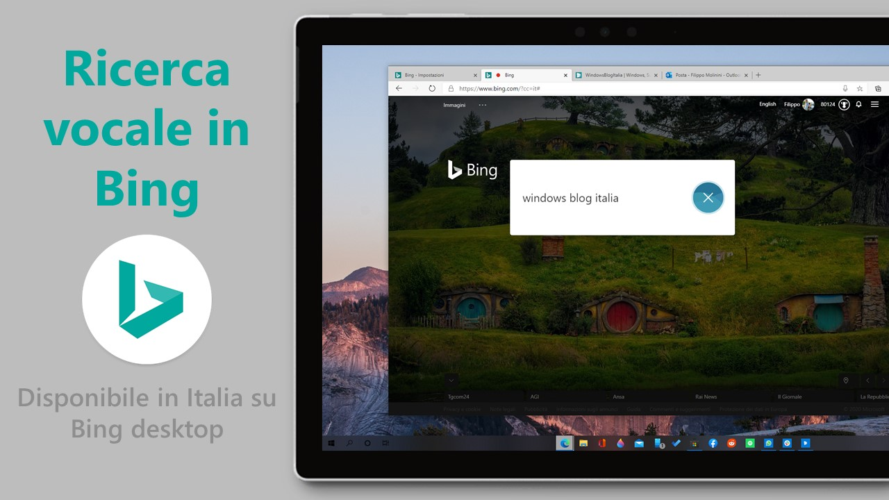 Ricerca vocale in Bing