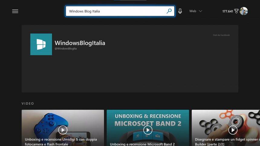 App di Bing per Xbox