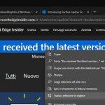 Microsoft Edge traduzione di estratti di testo nelle pagine web