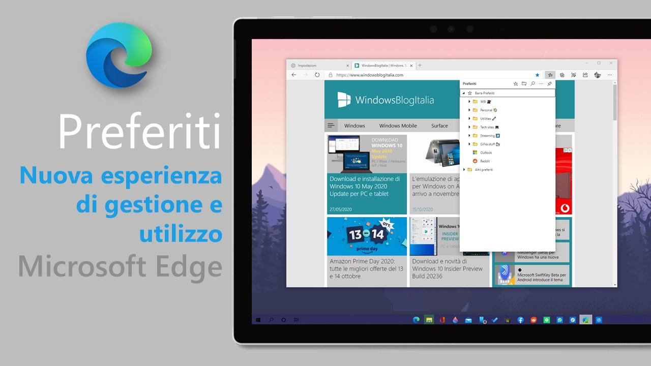 Nuova esperienza di gestione e utilizzo dei preferiti in Microsoft Edge