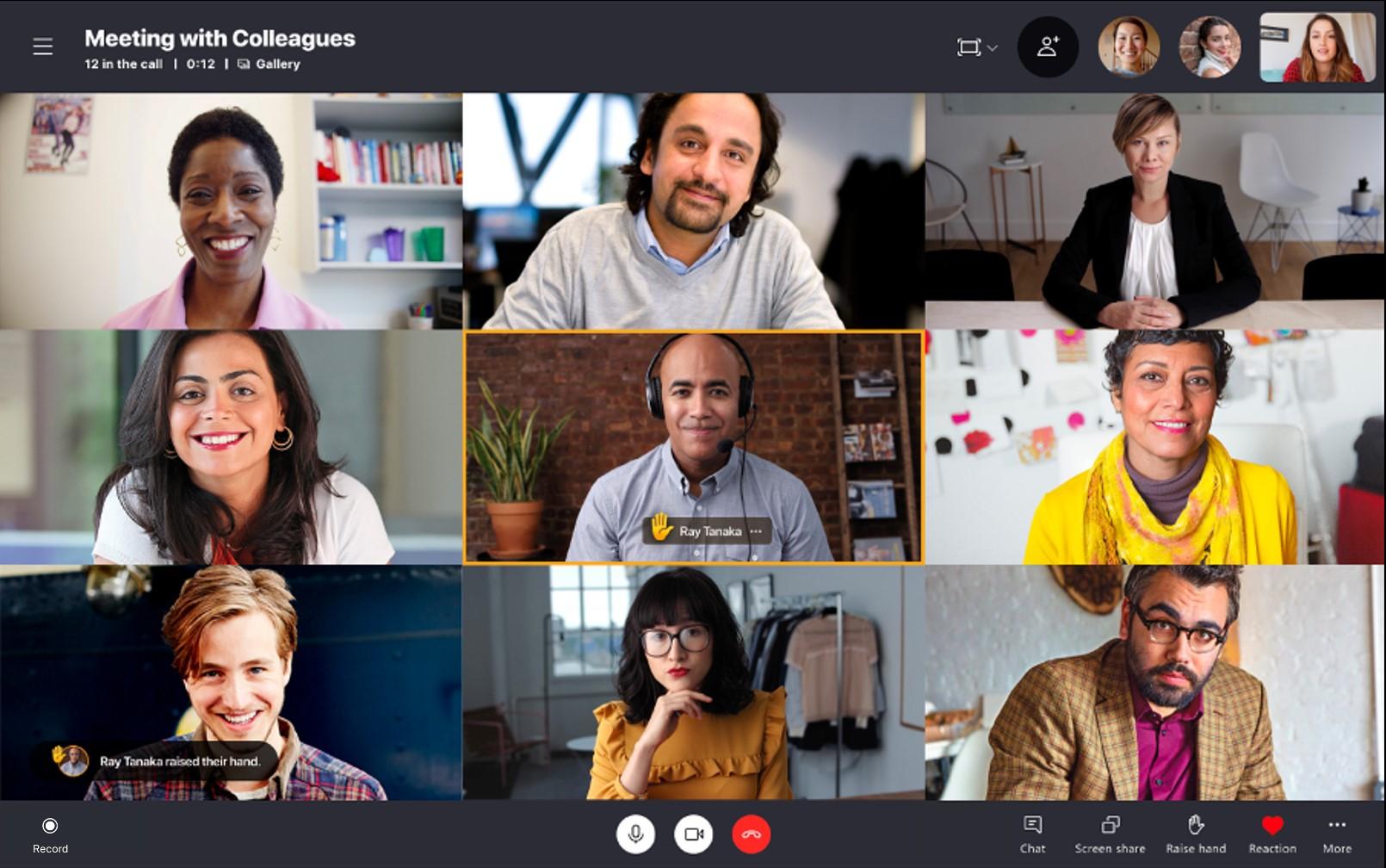 Skype Preview alza la mano