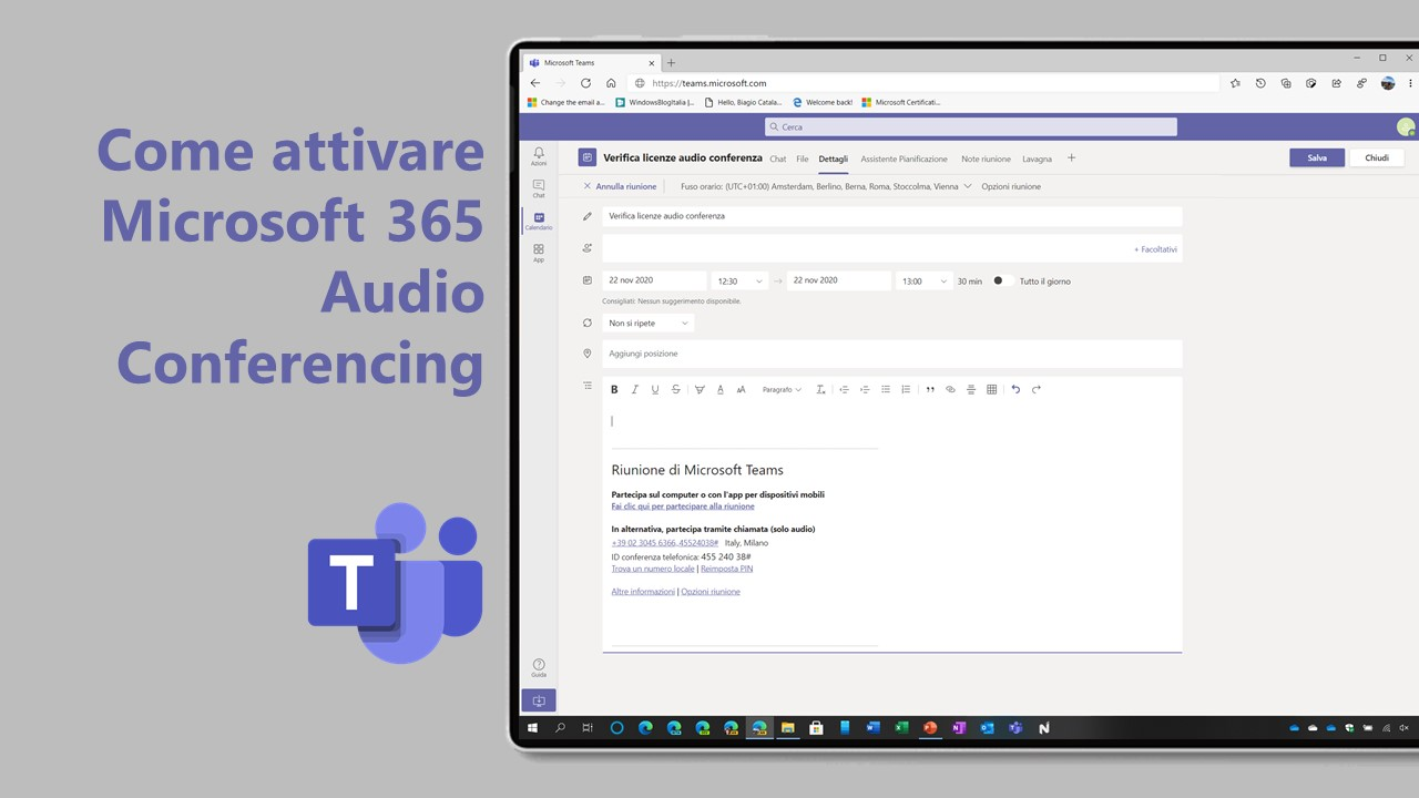 Audio conferencing for Microsoft Teams