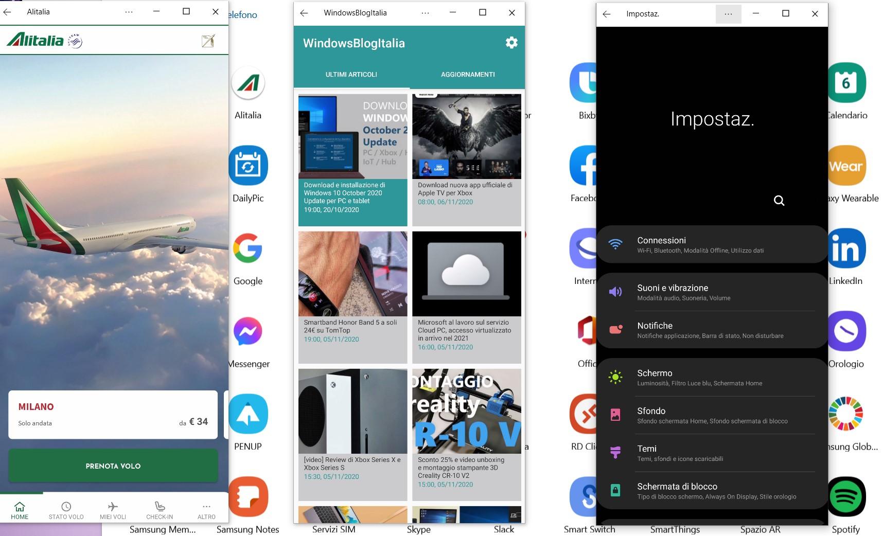 Il tuo telefono - Supporto apertura applicazioni multiple su PC
