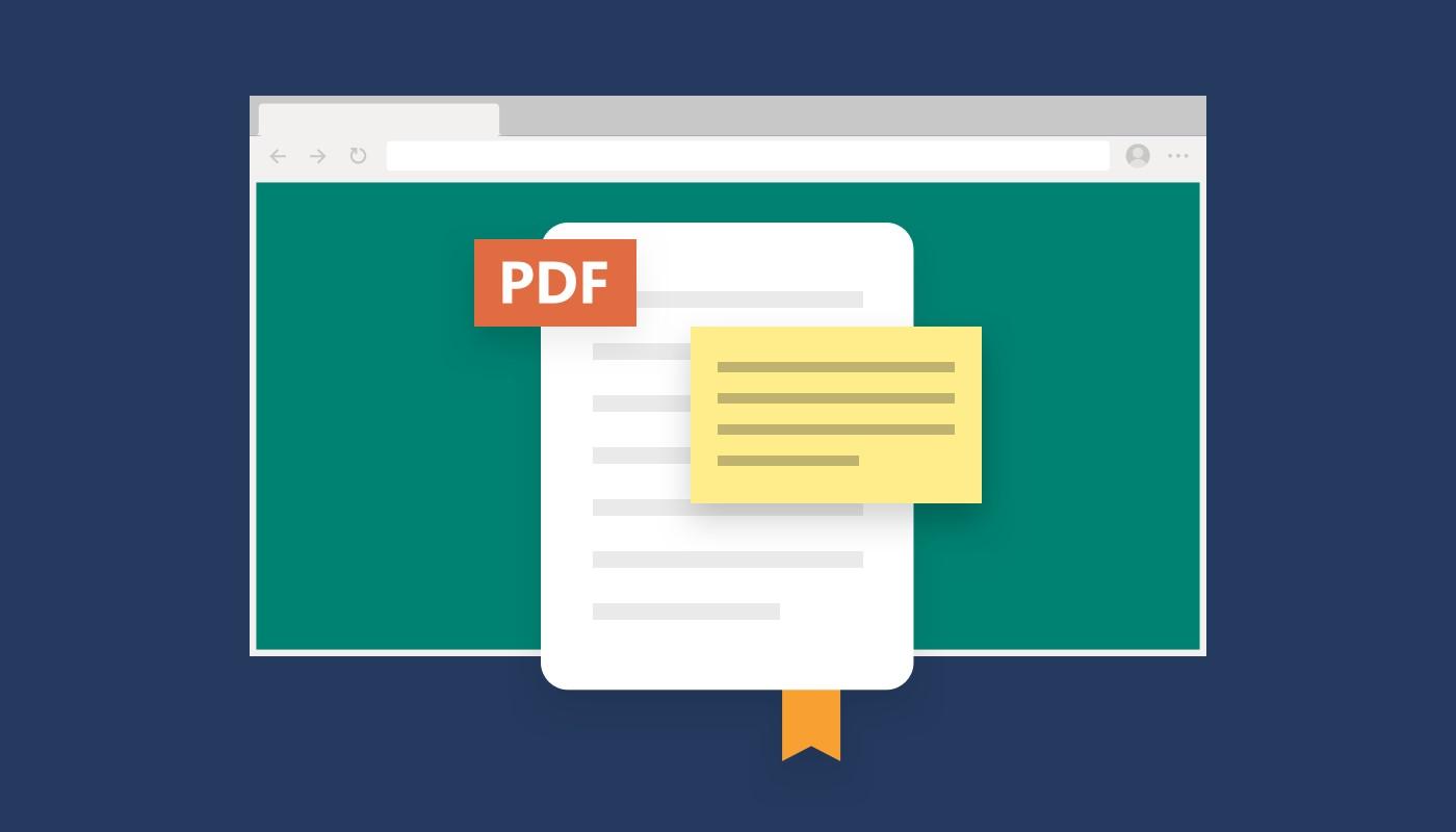 Microsoft Edge note nei PDF