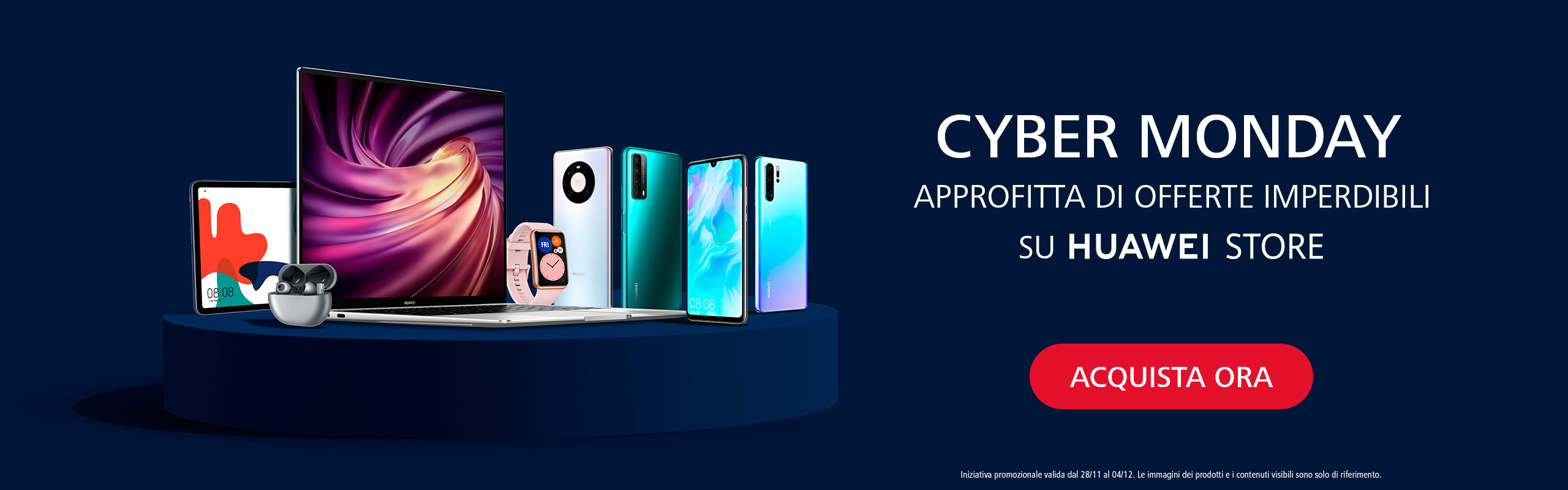 Offerte di Huawei per il Cyber Monday 2020