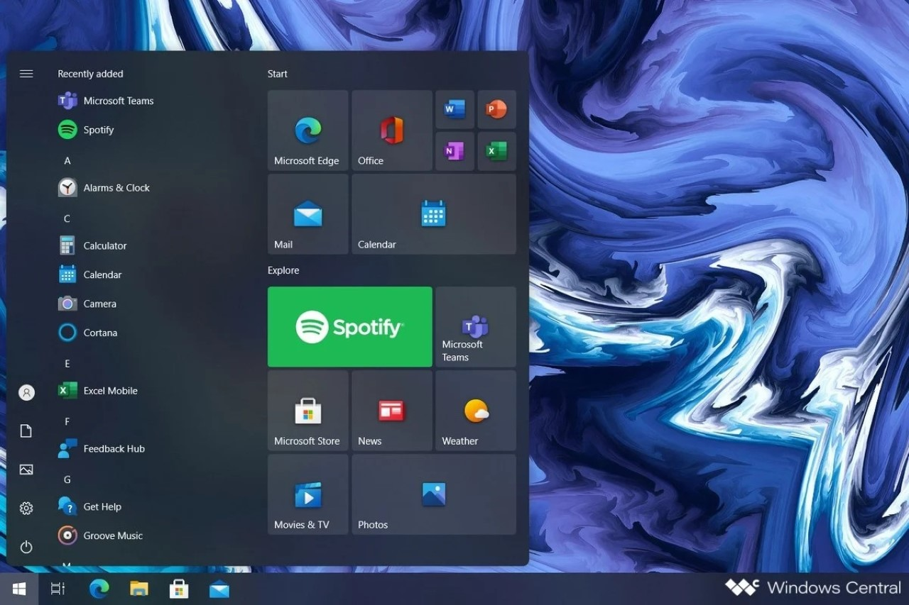 Windows - Start menu - Concept