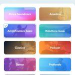 App Soundcore - Preset di equalizzazione Amplificatore bassi selezionato per le cuffie Life Q30