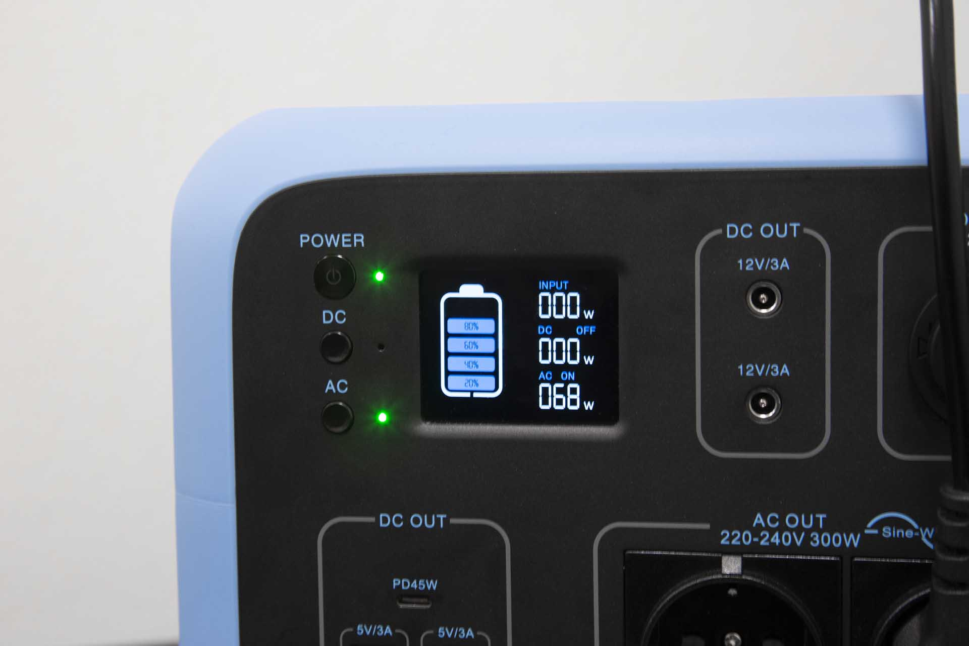 Bluetti AC50S display