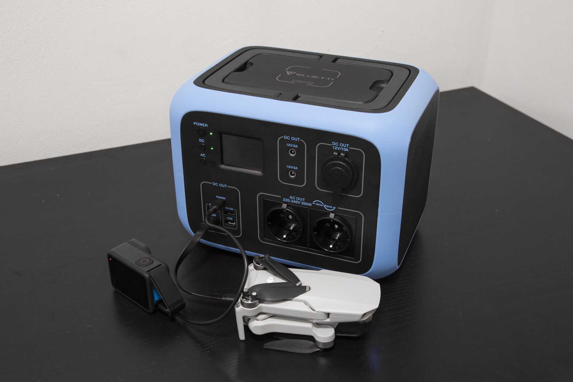 Bluetti AC50S ricarica drone DJI e GoPro