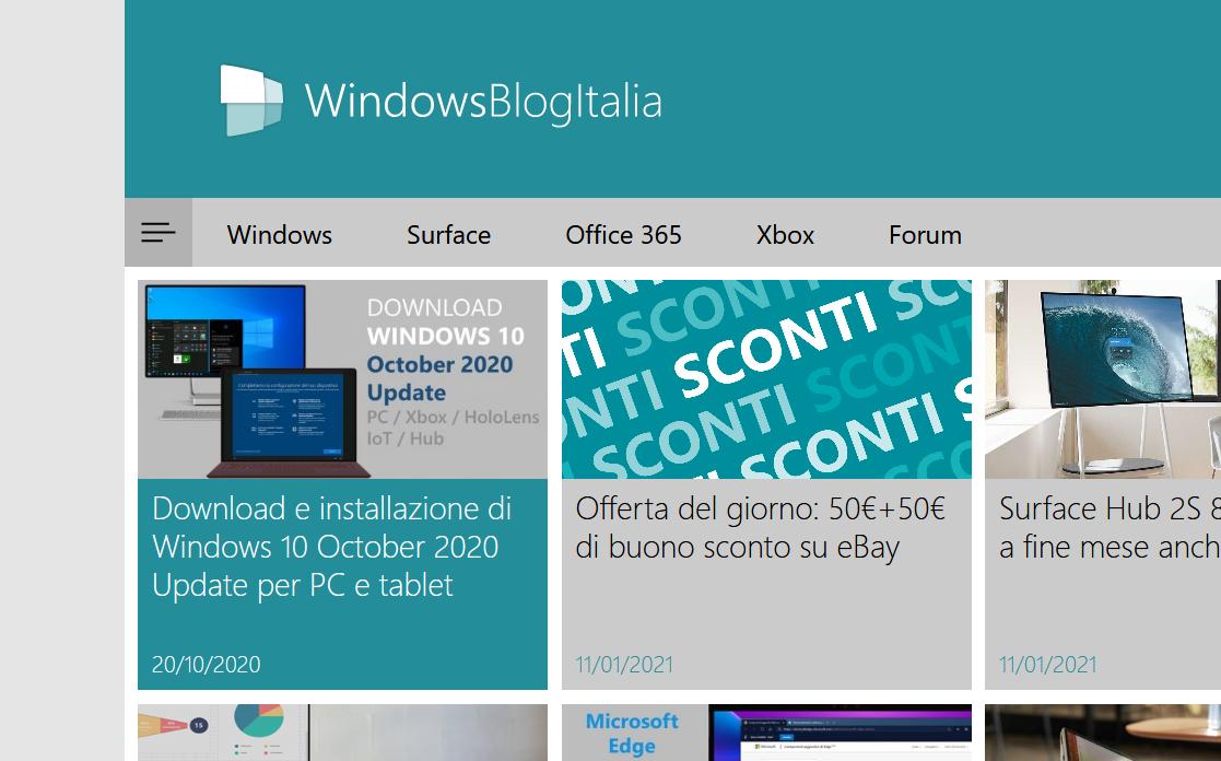 Logo WindowsBlogItalia Fluent Design