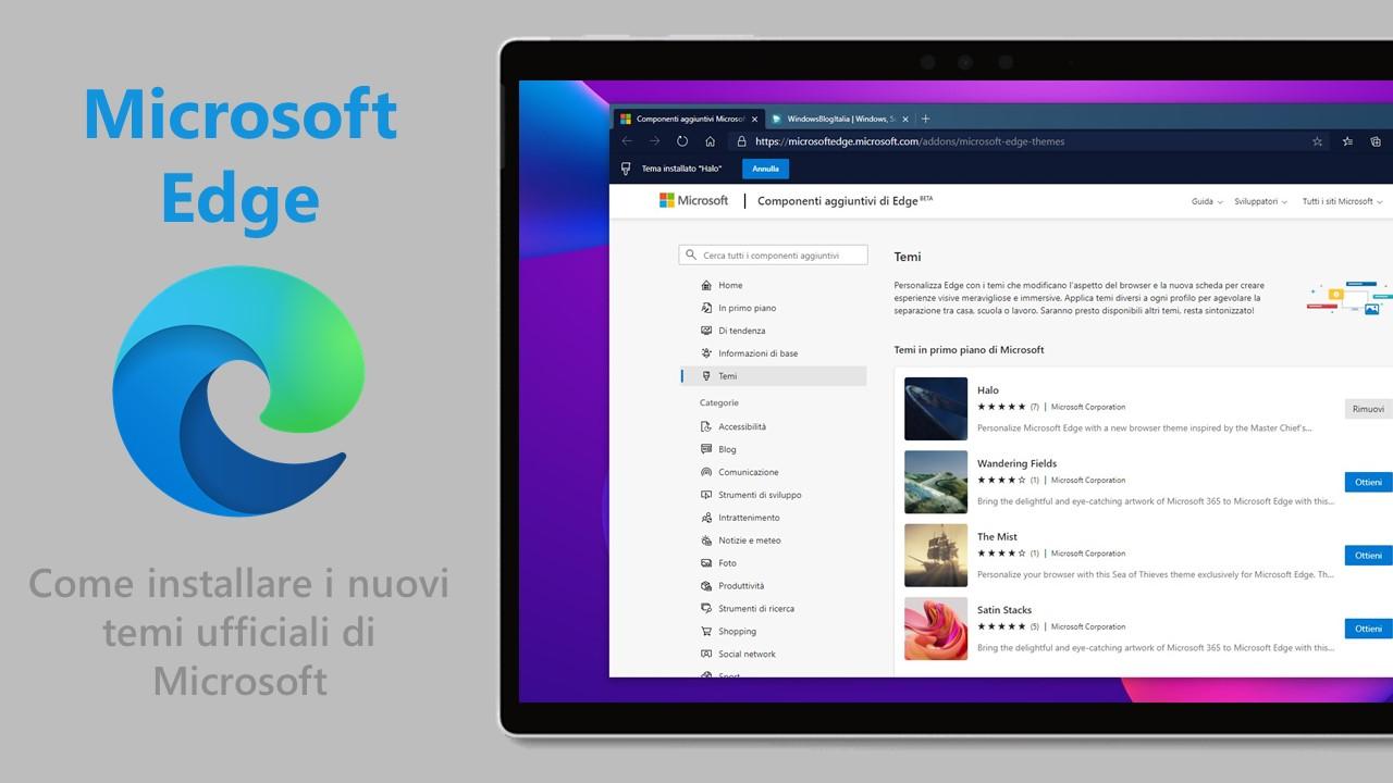 Microsoft Edge - Come installare i nuovi temi ufficiali di Microsoft