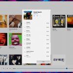 Mustastic - Riproduttore musicale per Windows 10 - Elenco brani di un album