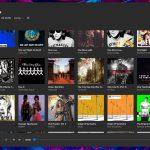 Mustastic - Riproduttore musicale per Windows 10 - Schermata album - Tema scuro