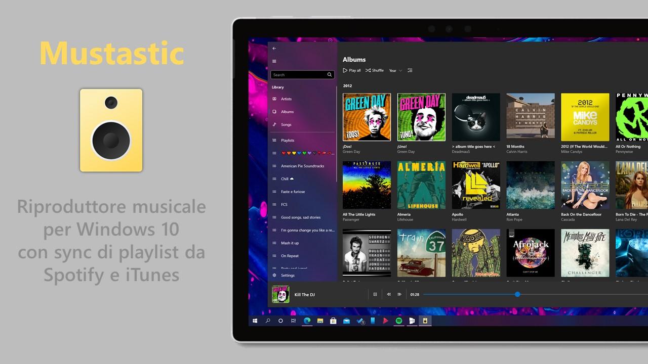 Mustastic - Riproduttore musicale per Windows 10
