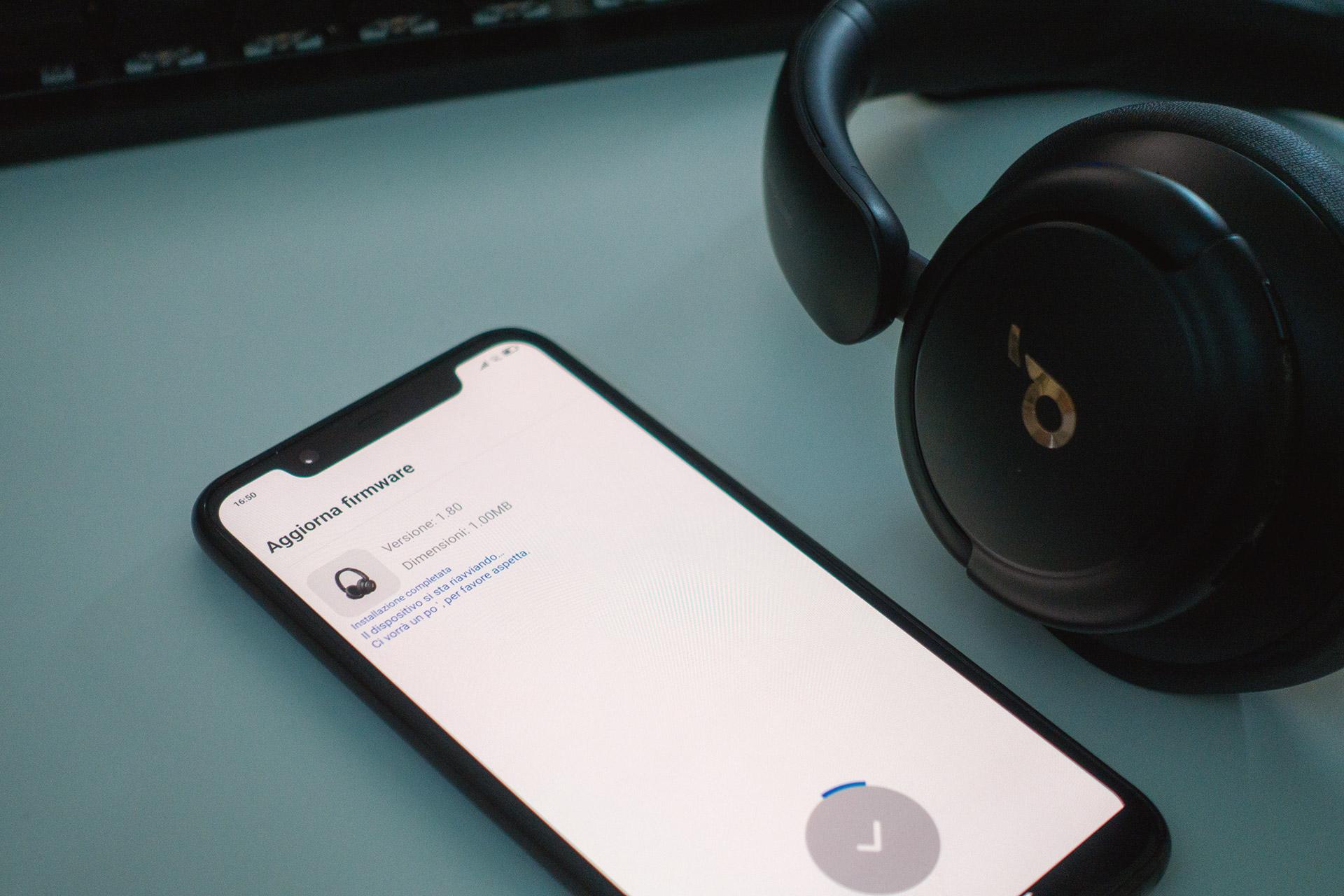 Soundcore Life Q30 - Aggiornamento firmware tramite l'app