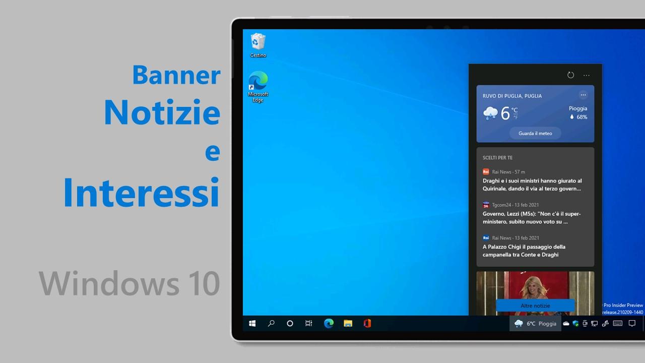 Notizie e interessi - Windows 10