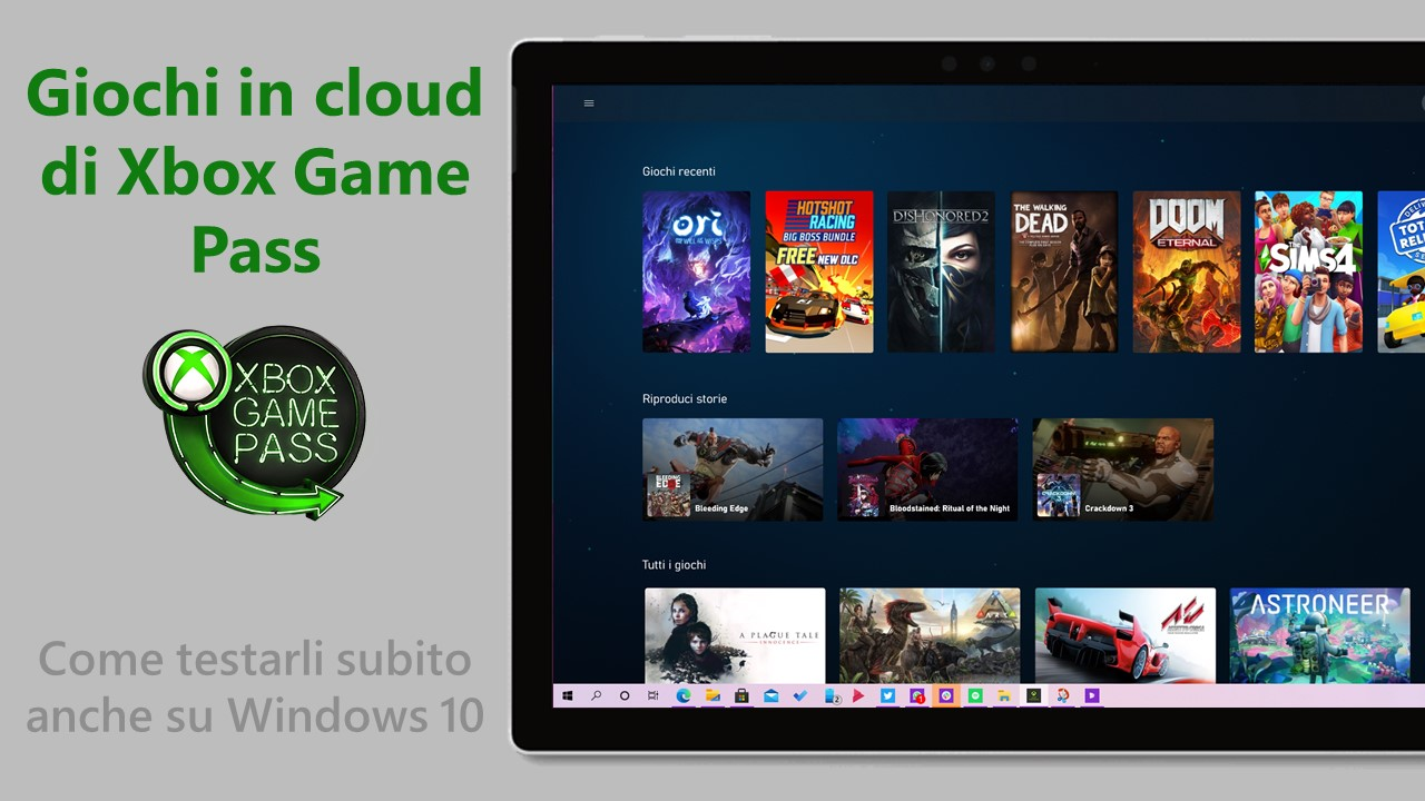 Come abilitare e provare i giochi in cloud di Xbox Game Pass su Windows 10