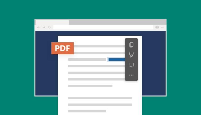 Microsoft Edge - Nuovo menu contestuale per i file PDF