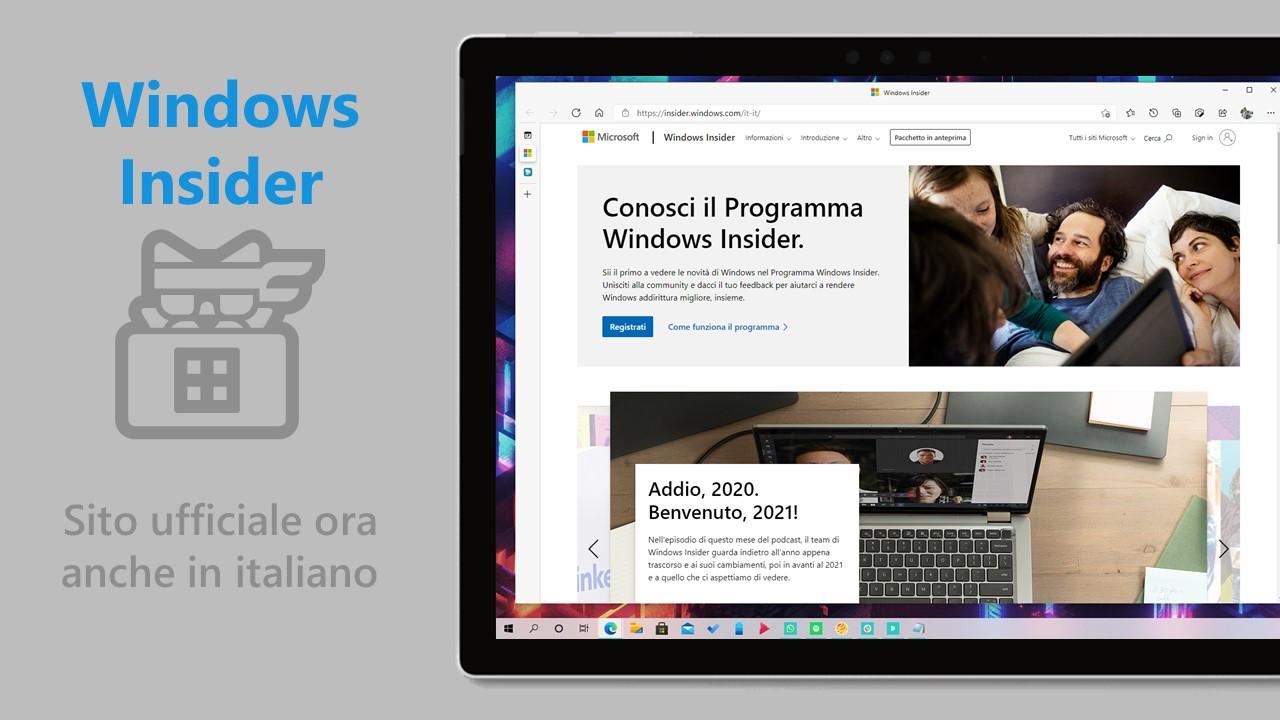 Windows Insider - Sito ufficiale del programma ora anche in italiano