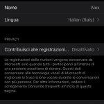 Group Transcribe - App di Microsoft Garage per iOS - Impostazioni