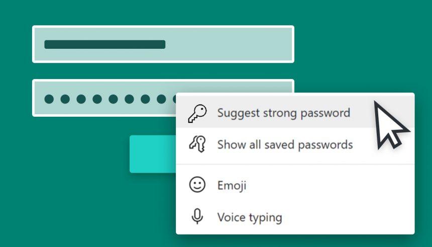 Microsoft Edge - Suggerimento password