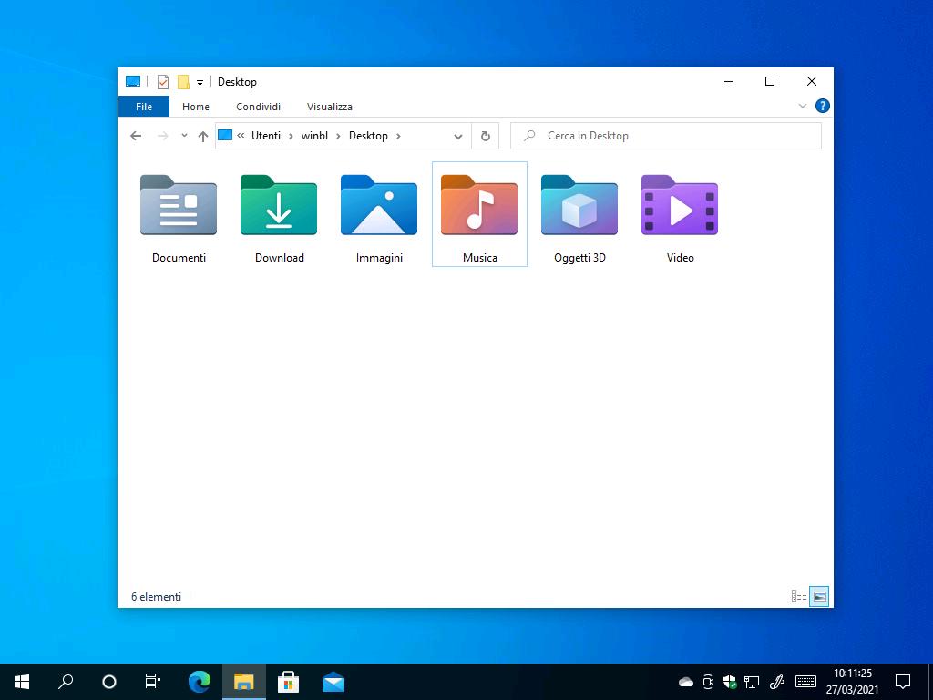 Nuove icone - Windows10