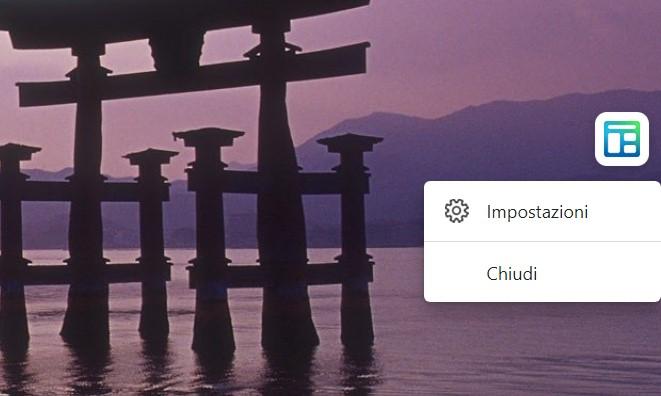 Widget Notizie e interessi - Microsoft Edge - Pulsante per richiamare il widget