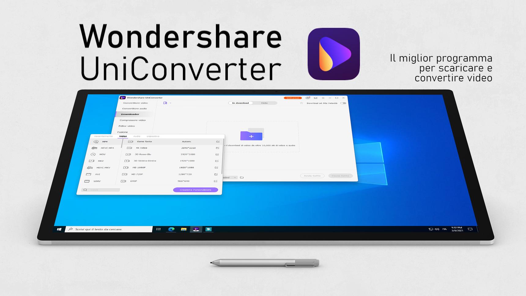 Wondershare UniConverter - Il miglior programma per scaricare e convertire video per Windows e Mac
