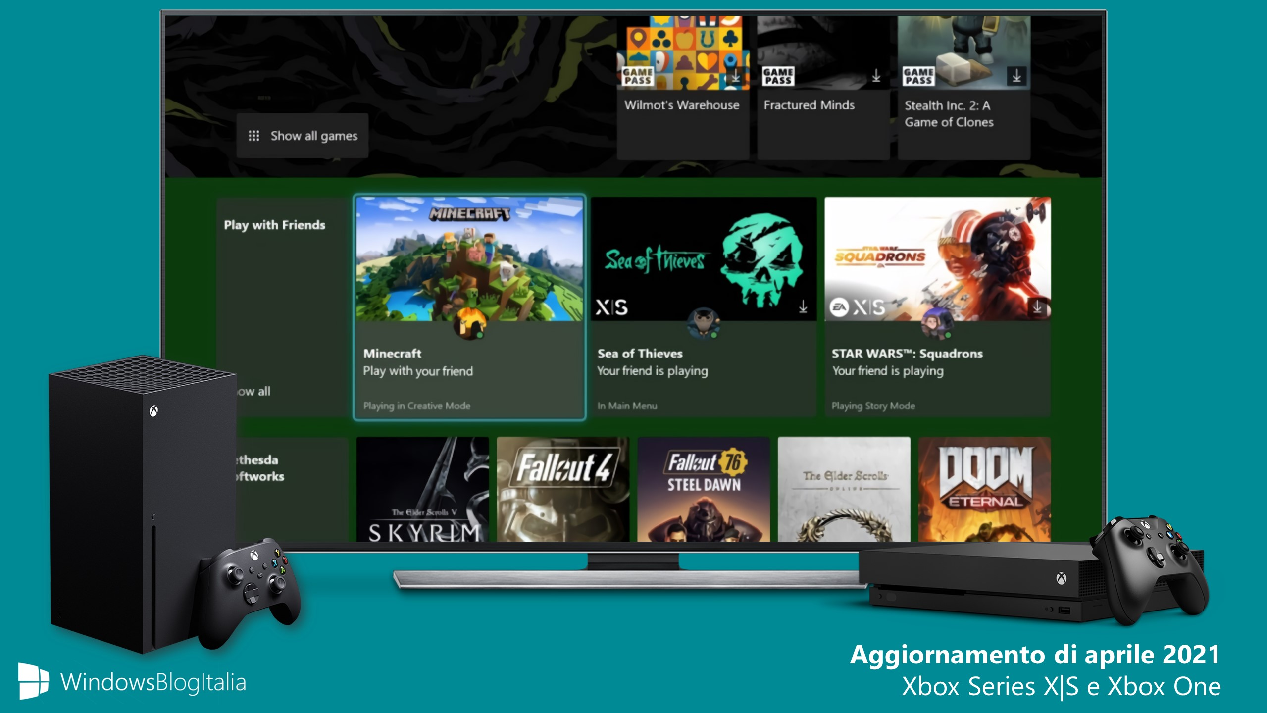 Aggiornamento di aprile 2021 - Xbox One e Xbox Series X S