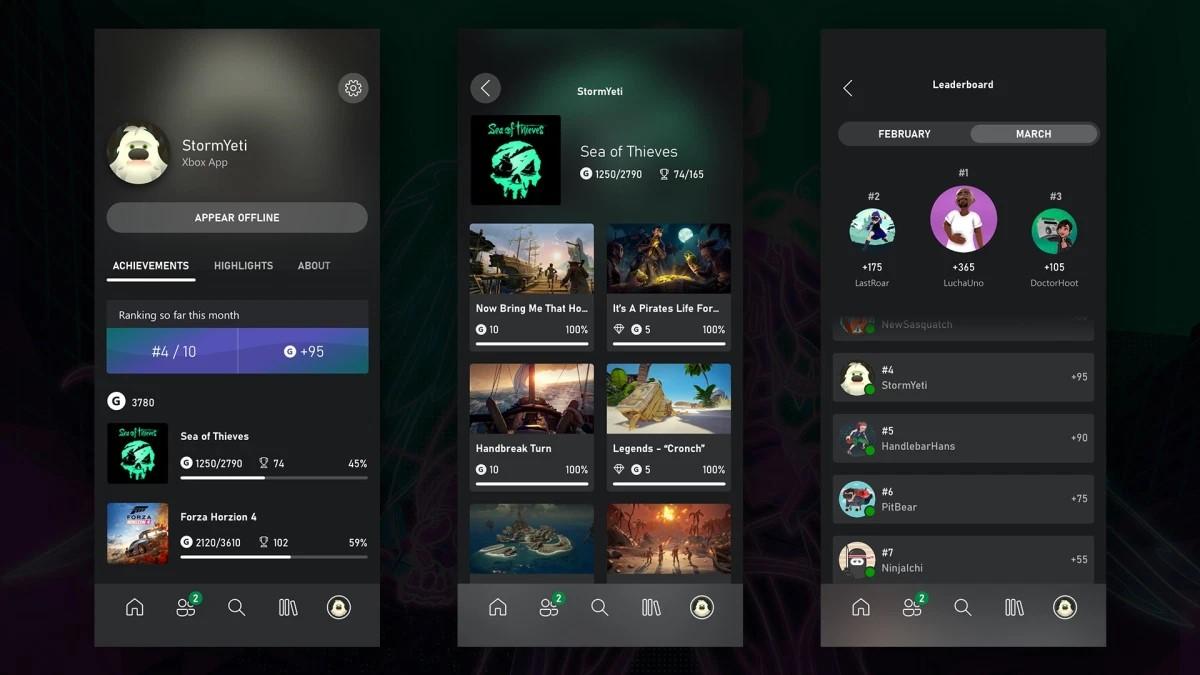 App Xbox - Leaderboard