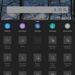 Microsoft Edge Canary - Android - Menu - Tema scuro