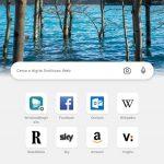 Microsoft Edge Canary - Android - Pagina nuova scheda con sfondo - Tema chiaro