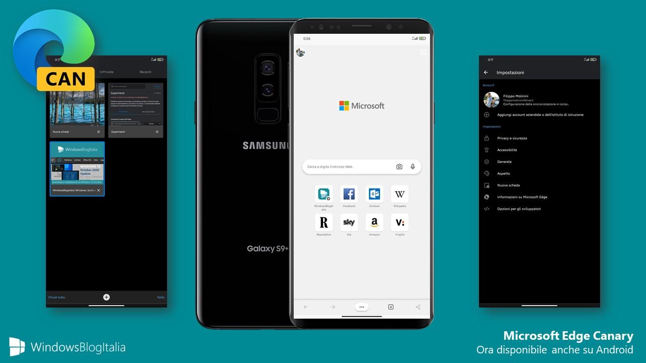 Microsoft Edge Canary - Android