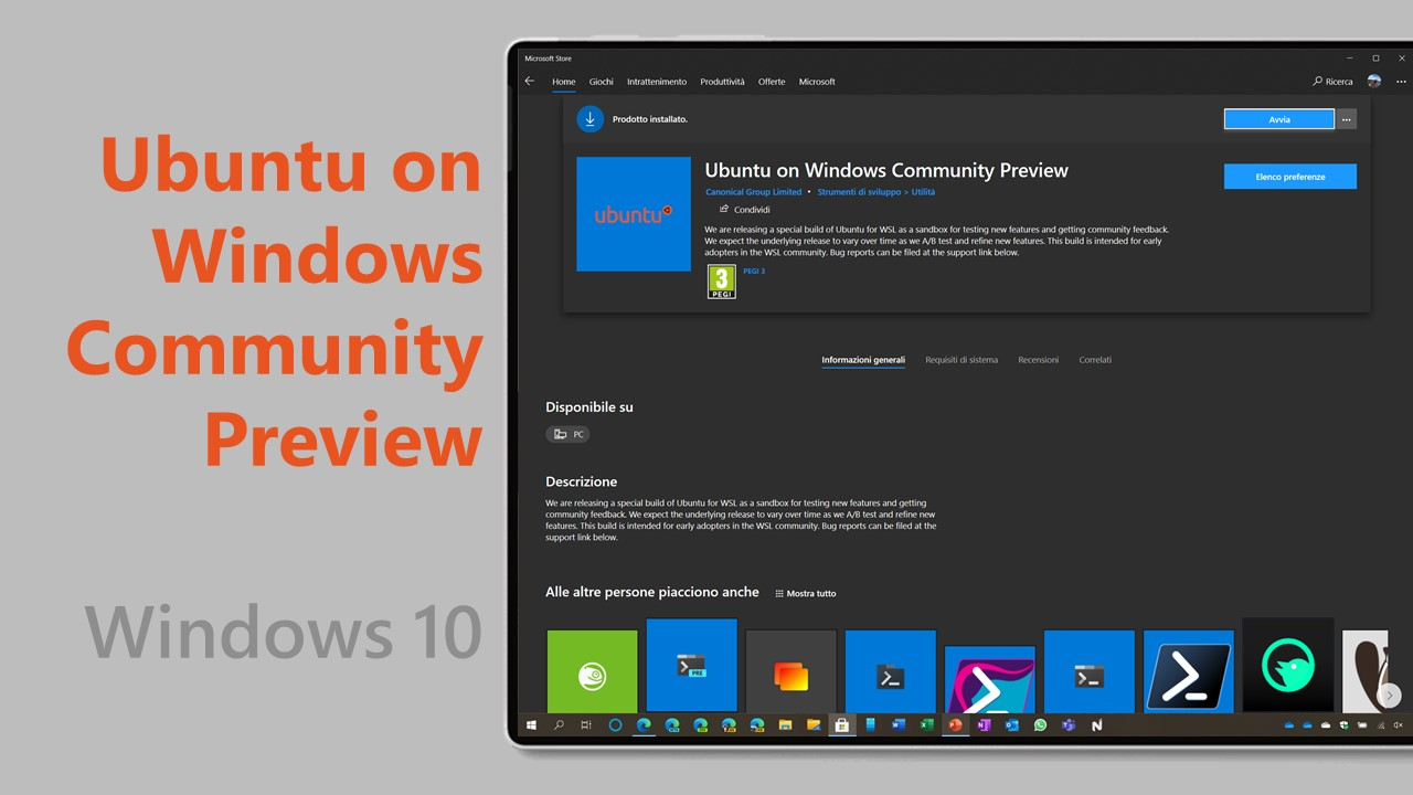 Ubuntu on Windows Community Preview