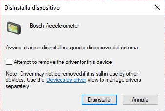 Gestione driver in Windows 10 migliorata - Disinstallazione dispositivo e driver