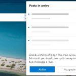 Microsoft Edge - Abilitazione collegamento rapido ad Outlook nella pagina Nuova scheda