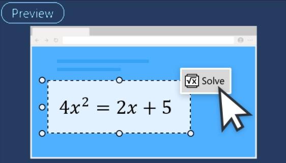 Microsoft Edge Beta - Risolutore matematico (Preview)